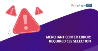 merchant center error