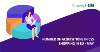 number of acquisitions in shopping in eu - may